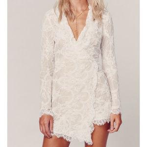 Stone Cold Fox 💕 Fillmore lace wrap mini dress